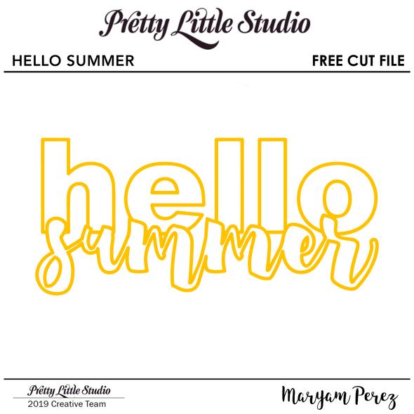 FREE Cut File | Hello Summer