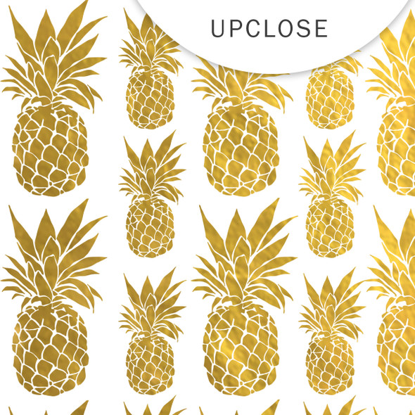 Metallic Clear | Pinapple Crush | Gold 8x8