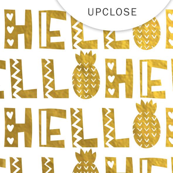Metallic Clear | Hello Summer | Gold 8x8