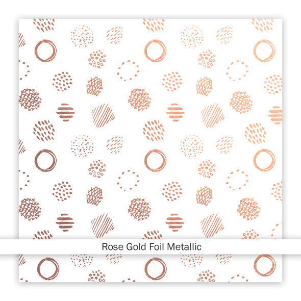 Metallic Clear | Cotton Candy | Rose Gold 8x8