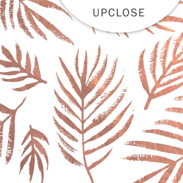 Metallic Vellum | Beach Palms | Rose Gold 8x8