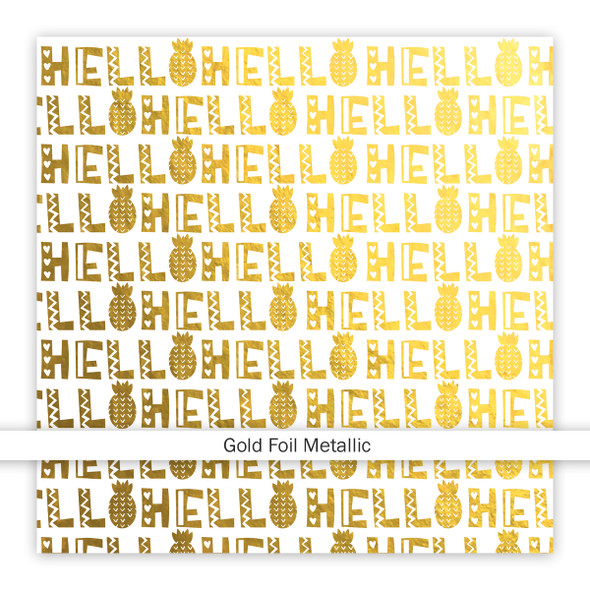 Metallic Vellum | Hello Summer | Gold 8x8