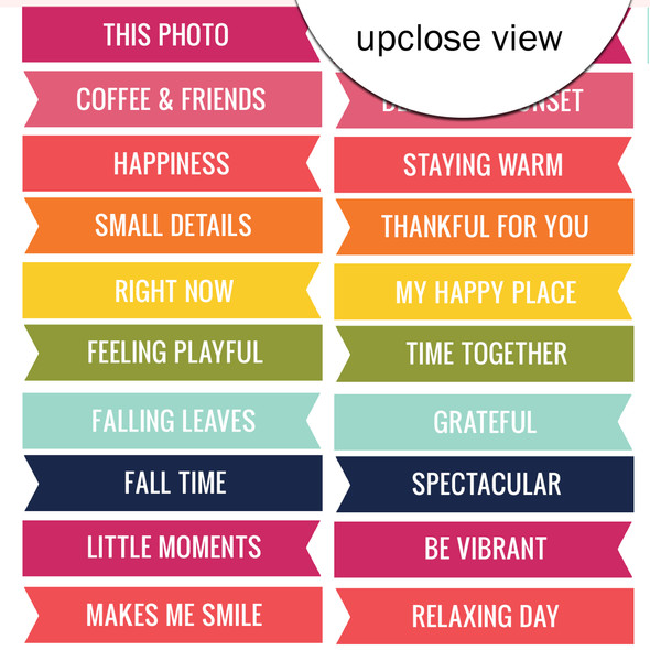 Cut-Aparts | Fall Word Flags