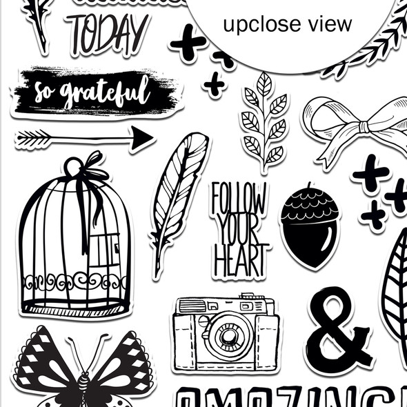 Stickers | Grateful | Clear