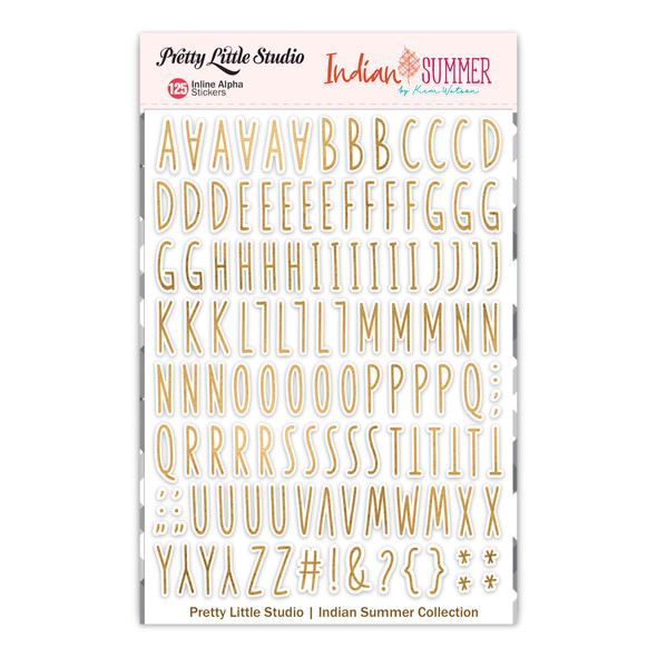 Stickers | Inline Alpha | Gold Clear