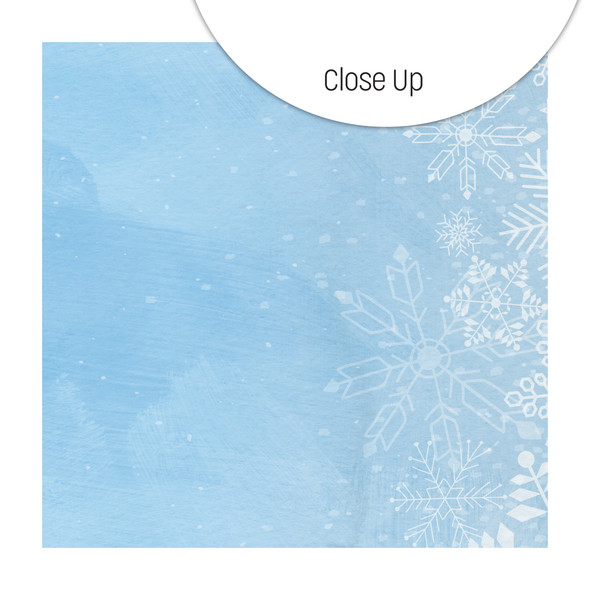 Paper | Blue Ice 12x12 (single-sided)