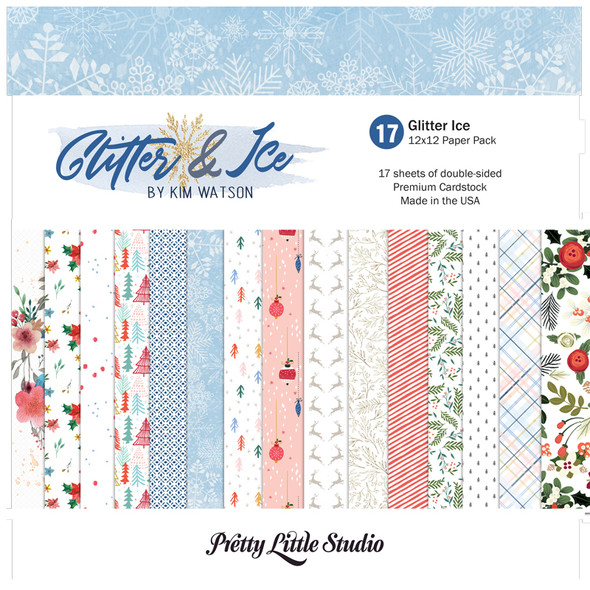 Paper Pack   Glitter Ice 12x12 (Double-Sided)