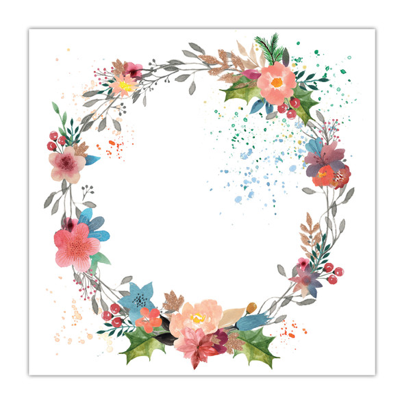 Clear | Festive Wreath 8x8