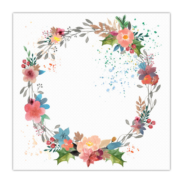Vellum | Festive Wreath 8x8