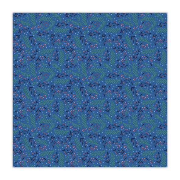 Paper | Deck the Halls | Blue 8x8