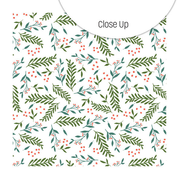 Paper | Deck the Halls | White 8x8