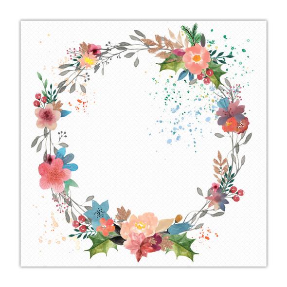 Paper   Festive Wreath 8x8