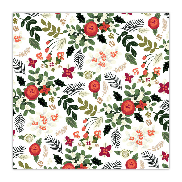Paper | Under the Mistletoe | White 8x8