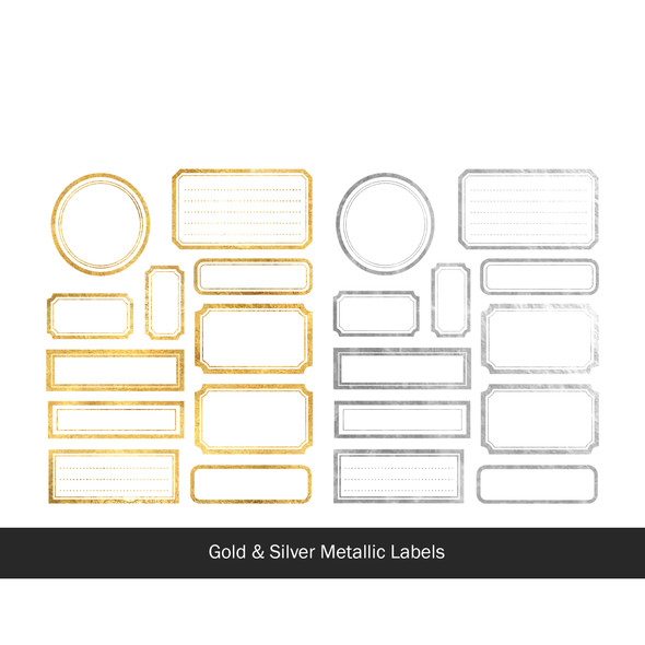 Die-Cuts | Merry Labels | Metallic