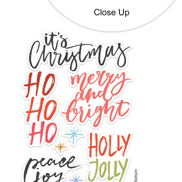 Stickers | Holly Jolly 2 | Clear
