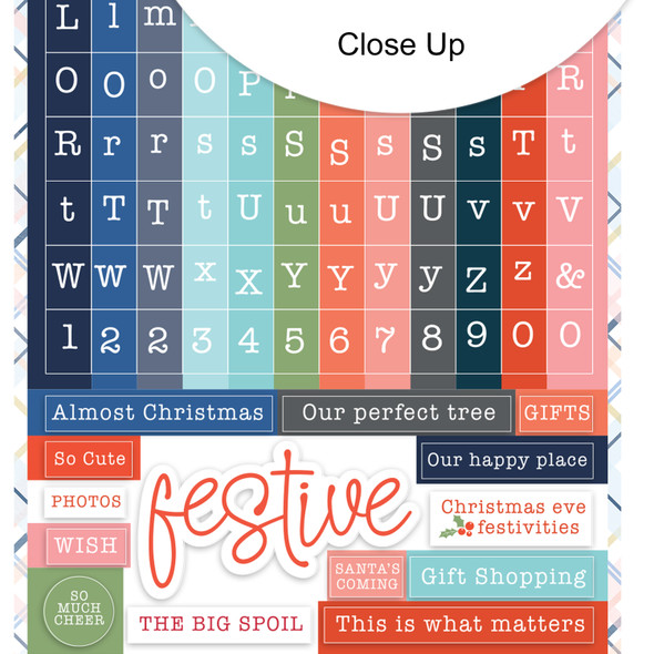 Stickers | Mini ABC | Festive Winter
