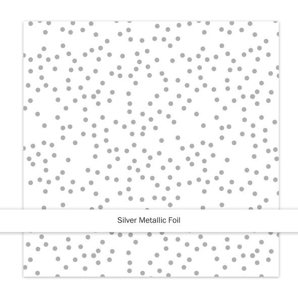 Metallic Paper | Christmas Sprinkles | Silver