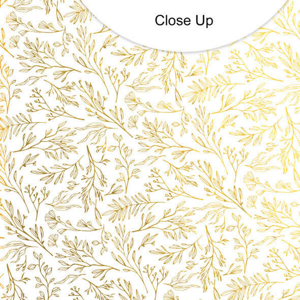 Metallic Vellum | Fronds | Gold