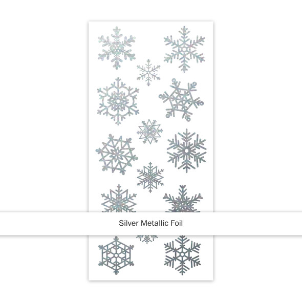 Stickers | Silver Snowflakes | Clear