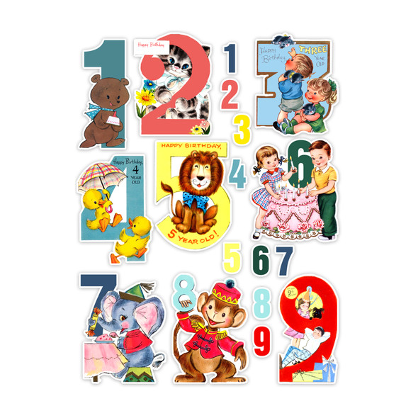 Die-Cuts | Birthday 1-9 (pack)