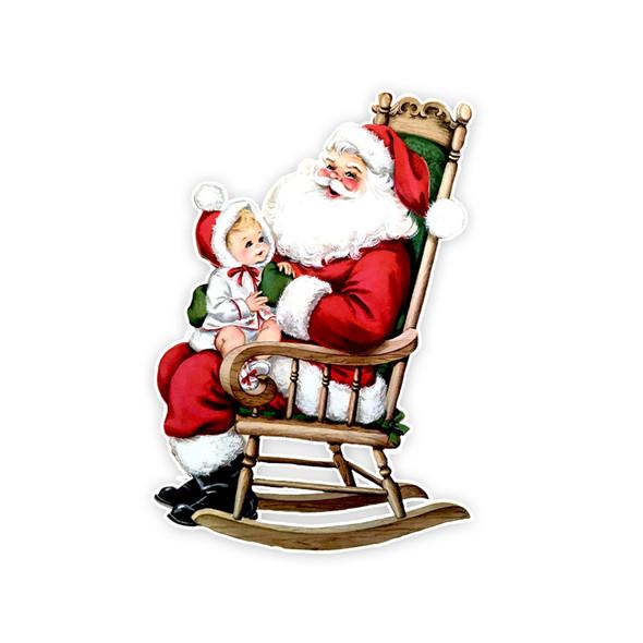 Vintage Die-Cut | Santa #30 | 6 inch