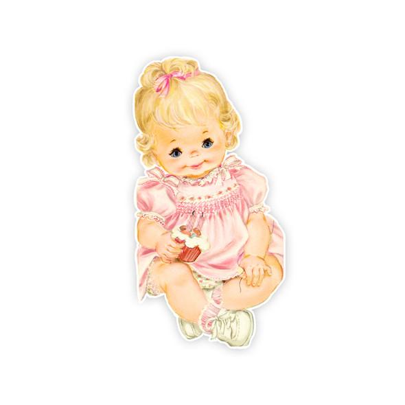 Vintage Die-Cut | Baby Laura | 6 inch