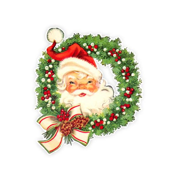 Vintage Die-Cut | Santa #27 | 6 inch