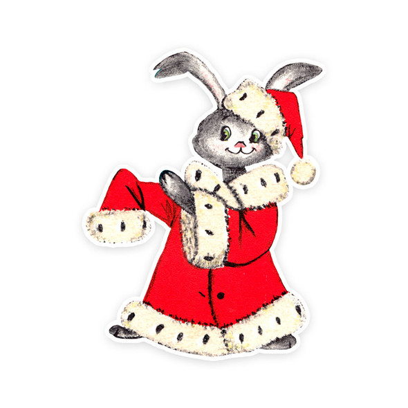 Vintage Die-Cut | Kringle Bunny
