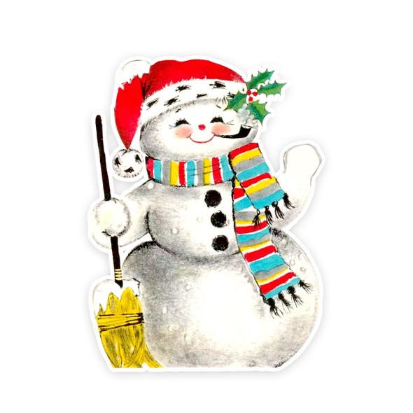 Vintage Die-Cut | Snowflake Snowman