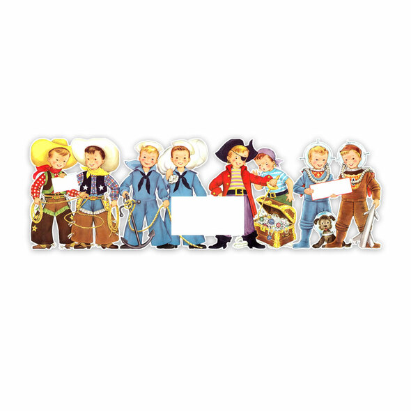 Vintage Die-Cut | Adventure Boys | 10 inch