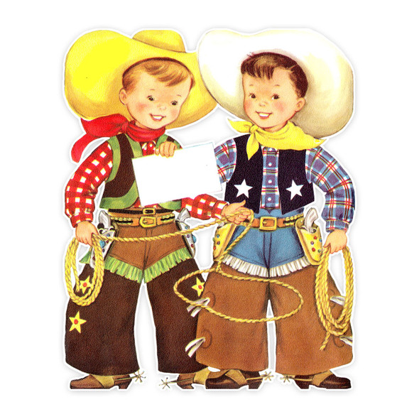 Vintage Die-Cut | Bill & Jim Cowboys