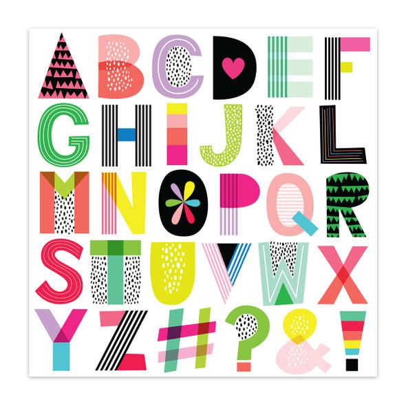 Paper | Alphabet Soup 12x12 (single-sided)