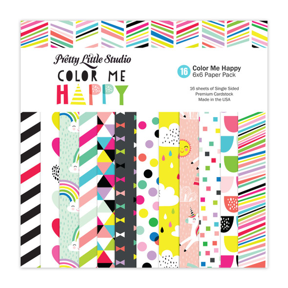 Paper Pack | Color Me 6x6 (Single-Sided)