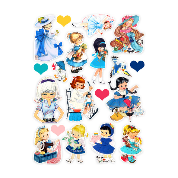 Die-Cuts | Blue Dress (pack)