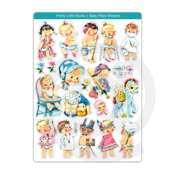 Stickers | Baby Plays (vintage)
