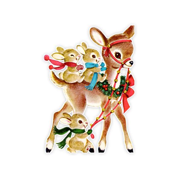 Vintage Die-Cut | Buddy Reindeer