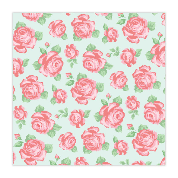 Vellum | Rose Garden | Mint 8x8