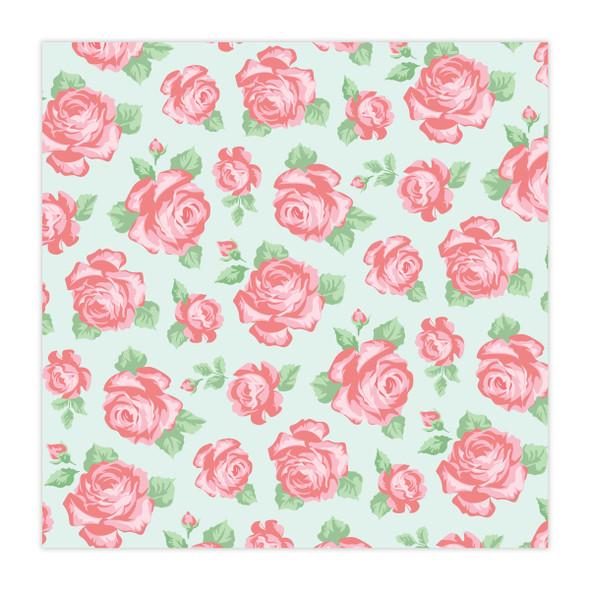 Vellum | Rose Garden | Mint 8x8