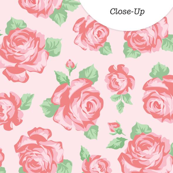 Vellum | Rose Garden | Pink 8x8