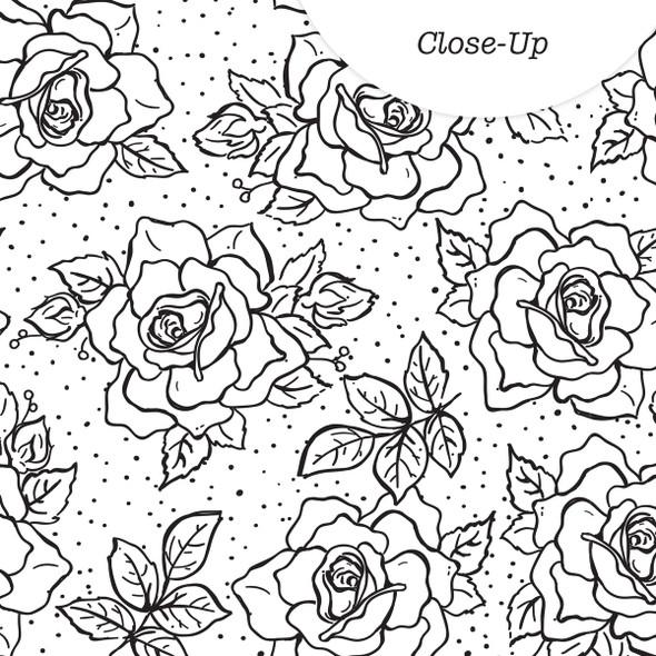Paper | Rosebush | BW  8x8