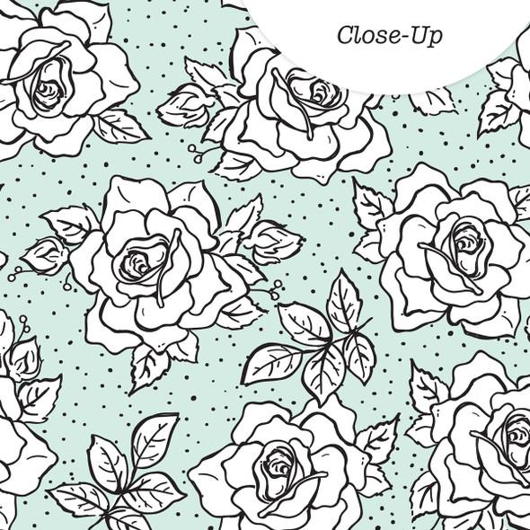 Paper | Rosebush | Mint 8x8