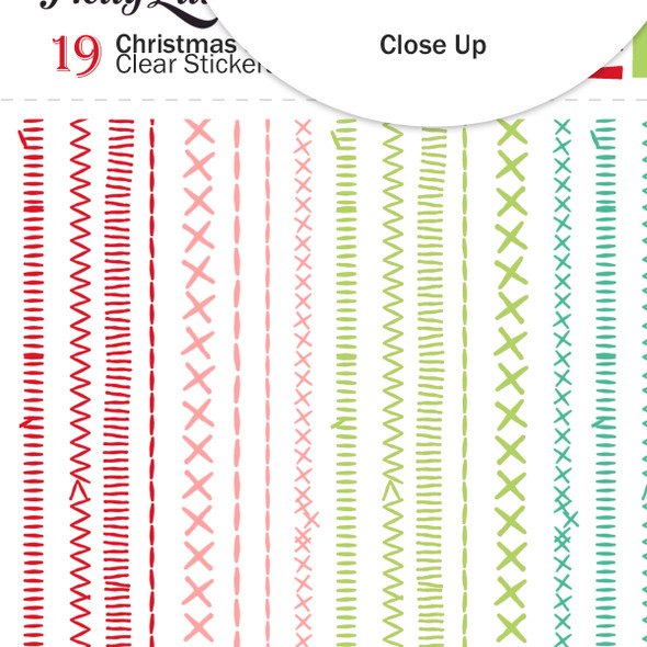 Stickers | Christmas Stitches | Clear