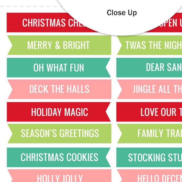 Cut-Aparts | Christmas Cheer Word Flags
