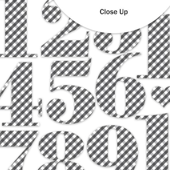 Die-Cuts | Nutcracker Numbers | Gingham