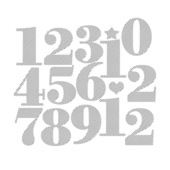 Die-Cuts | Nutcracker Numbers | Pinstripe