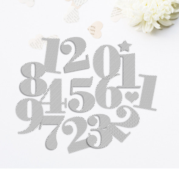 Die-Cuts | Nutcracker Numbers | Pinstripe