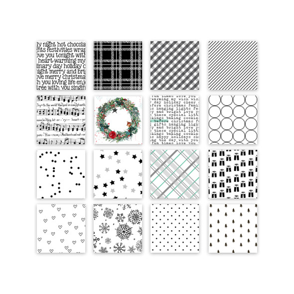 Paper Pack | Christmas Cheer (BW) 6x6 (single-sided)