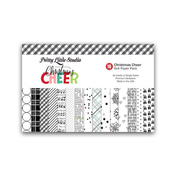 Paper Pack | Christmas Cheer (BW) 4x6 (single-sided)