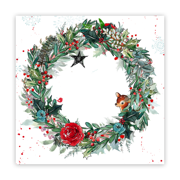 Clear | Boughs of Holly 8x8