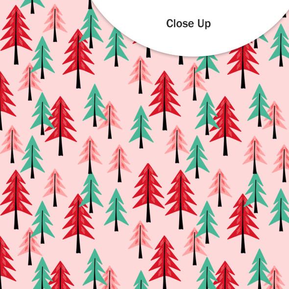 Vellum | Tree Farm | Pink 8x8